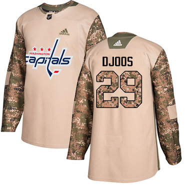 Adidas Capitals #29 Christian Djoos Camo Authentic 2017 Veterans Day Stitched NHL Jersey