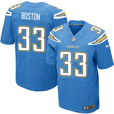 Nike Chargers #33 Tre Boston Electric Blue Alternate Men's Stitched NFL New Elite Jersey