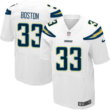 Nike Chargers #33 Tre Boston White Men's Stitched NFL New Elite Jersey
