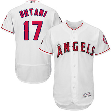 LA Angels of Anaheim #17 Shohei Ohtani White Flexbase Authentic Collection Stitched MLB Jersey