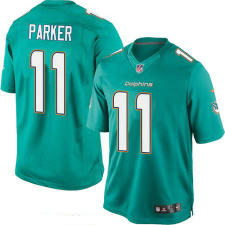 Men's Miami Dolphins #11 DeVante Parker Green Team Color Stitched NFL Nike Game Jersey