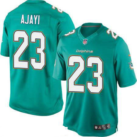 Men's Miami Dolphins #23 Jay Ajayi Green Team Color Stitched NFL Nike Game Jersey