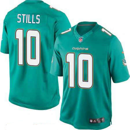 Men's Miami Dolphins #10 Kenny Stills Green Team Color Stitched NFL Nike Game Jersey