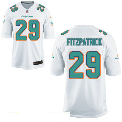 Men's Miami Dolphins #29 Minkah Fitzpatrick White Road Stitched NFL Nike Game Jersey