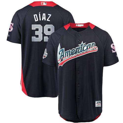 Mariners #39 Edwin Diaz Navy Blue 2018 All-Star American League Stitched Baseball Jersey