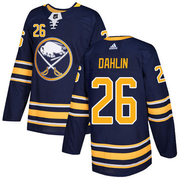 Adidas Buffalo Sabres #26 Rasmus Dahlin Navy Blue Home Authentic Stitched NHL Jersey
