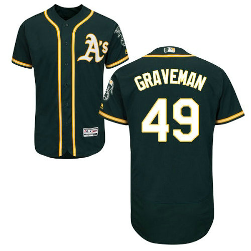 Oakland Athletics 49 Kendall Graveman Green Flexbase Authentic Collection Stitched Baseball Jersey