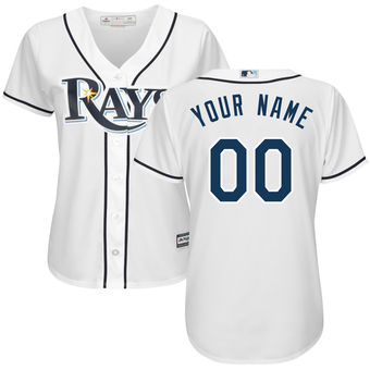 Women's Tampa Bay Rays Majestic White Home Cool Base Custom Jersey