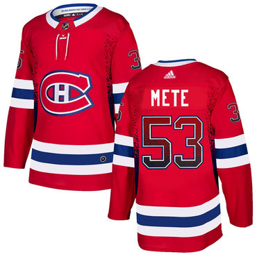 Men's Montreal Canadiens #53 Victor Mete Red Drift Fashion Adidas Jersey