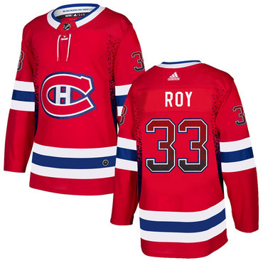 Men's Montreal Canadiens #33 Patrick Roy Red Drift Fashion Adidas Jersey