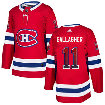 Men's Montreal Canadiens #11 Brendan Gallagher Red Drift Fashion Adidas Jersey