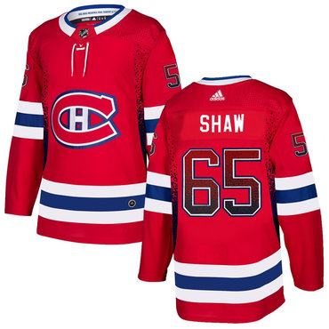 Men's Montreal Canadiens #65 Andrew Shaw Red Drift Fashion Adidas Jersey