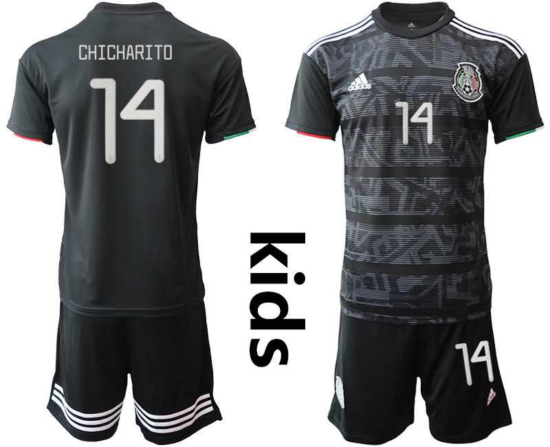 2019-20-Mexico-14-CHICHARITO-Home-Youth-Soccer-Jersey