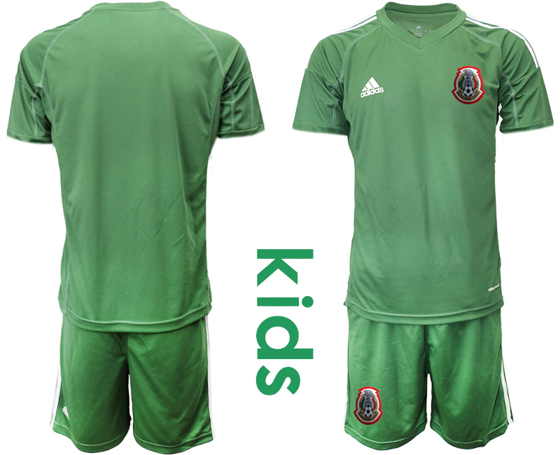 2019-20-Mexico-Arm-Green-Youth-Goalkeeper-Soccer-Jersey