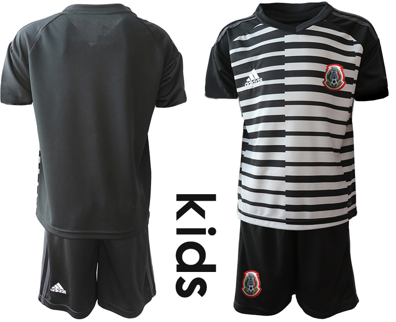 2019-20-Mexico-Black-Youth-Goalkeeper-Soccer-Jersey