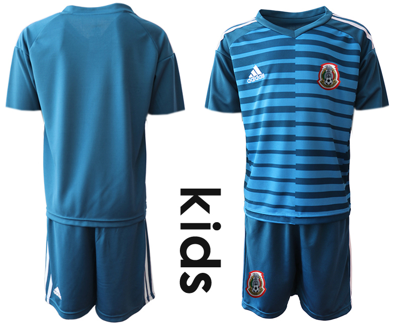 2019-20-Mexico-Blue-Youth-Goalkeeper-Soccer-Jersey