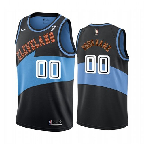 Nike Cleveland Cavaliers Custom Black 2019-20 Classic Edition Stitched NBA Jersey