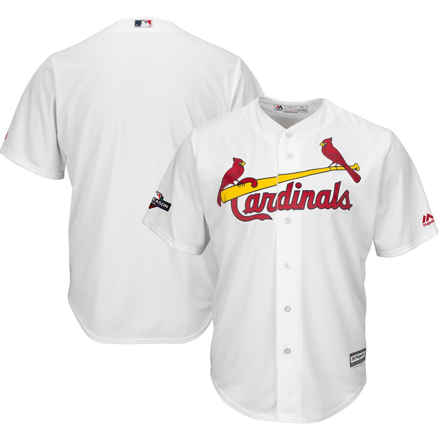 St. Louis Cardinals Majestic 2019 Postseason Official Cool Base Player White Jersey