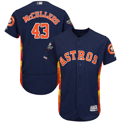 Astros #43 Lance McCullers Navy Blue Flexbase Authentic Collection 2019 World Series Bound Stitched Baseball Jersey