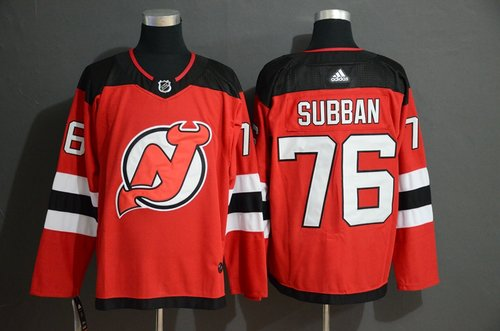 Men's New Jersey Devils 76 P.K. Subban Red Adidas Jersey