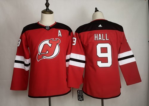 Men's New Jersey Devils 9 Taylor Hall Red Women Adidas Jersey