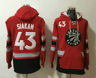 Men's Toronto Raptors #43 Pascal Siakam NEW Red Pocket Stitched NBA Pullover Hoodie