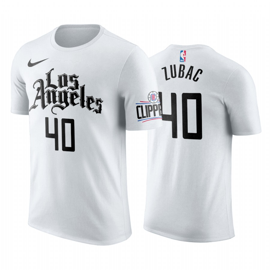 Nike Clippers #40 Ivica Zubac 2019-20 Men's White Los Angeles City Edition NBA T-Shirt