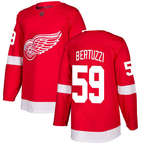 Youth Detroit Red Wings Authentic #59 Tyler Bertuzzi Red Home Jersey