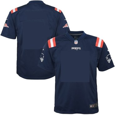 Men's Nike New England Patriots Blank Color Rush Game Jersey