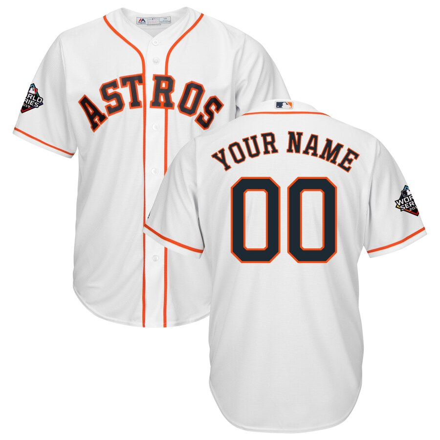 Houston Astros Majestic 2019 World Series Bound Official Cool Base Custom White Jersey