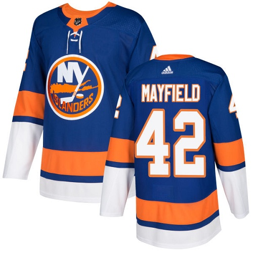 Youth New York Islanders #42 Scott Mayfield Adidas Royal Blue Home Authentic NHL Jersey