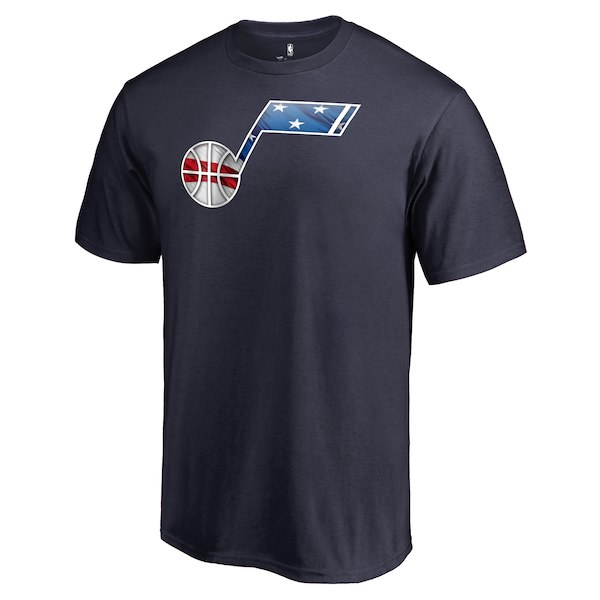 Men's Utah Jazz Fanatics Branded Navy Personalized Name and Number Banner Wave T-Shirt