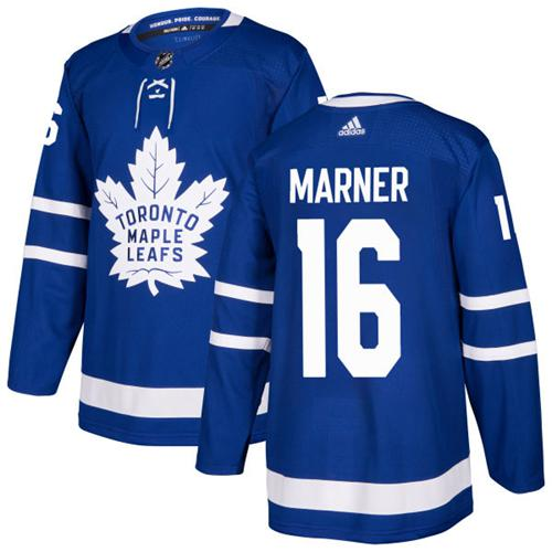 Youth Adidas Maple Leafs #16 Mitchell Marner Blue Home Authentic Stitched NHL Jersey