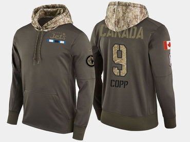 Nike Winnipeg Jets 9 Andrew Copp Olive Salute To Service Pullover Hoodie