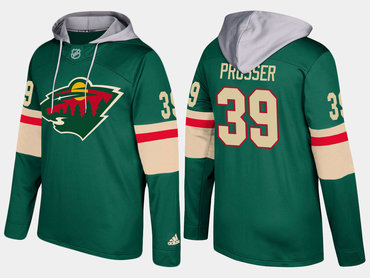 Adidas Minnesota Wild 39 Nate Prosser Name And Number Green Hoodie