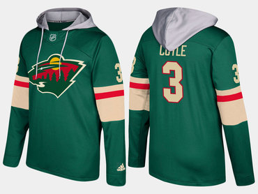 Adidas Minnesota Wild 3 Charlie Coyle Name And Number Green Hoodie