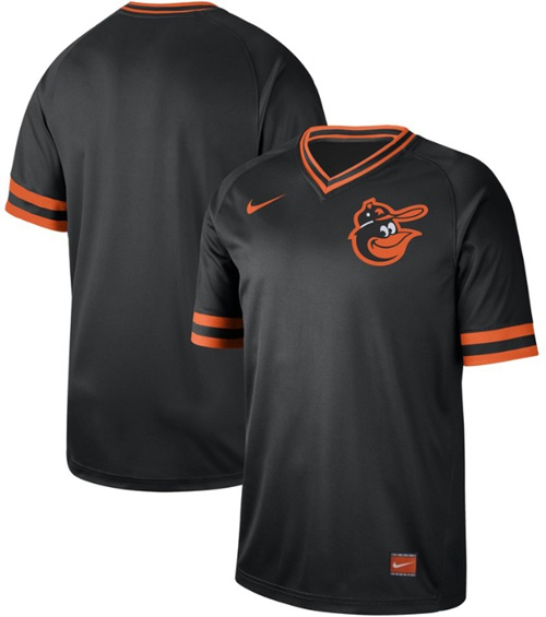 Orioles Blank Black Authentic Cooperstown Collection Stitched Baseball Jersey