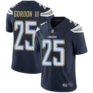 Chargers #25 Melvin Gordon III Navy Blue Team Color Youth Stitched Football Vapor Untouchable Limited Jersey