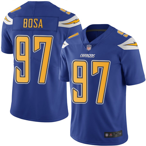 Chargers #97 Joey Bosa Electric Blue Youth Stitched Football Limited Rush Jersey