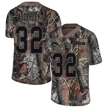Chargers #32 Nasir Adderley Camo Youth Stitched Football Limited Rush Realtree Jersey