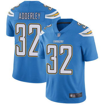 Chargers #32 Nasir Adderley Electric Blue Alternate Youth Stitched Football Vapor Untouchable Limited Jersey