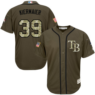 Rays #39 Kevin Kiermaier Green Salute to Service Stitched Youth Baseball Jersey