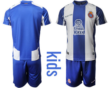 2019-20 RCD Espanyol Home Youth Soccer Jersey