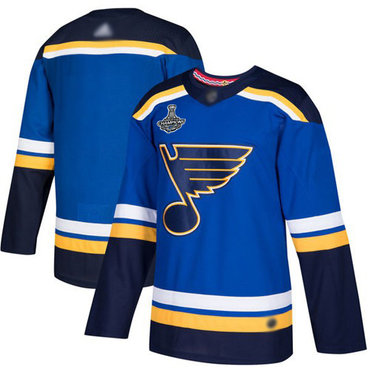 Blues Blank Blue Home Authentic Stanley Cup Champions Stitched Hockey Jersey
