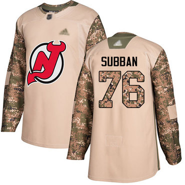 Devils #76 P. K. Subban Camo Authentic 2017 Veterans Day Stitched Hockey Jersey