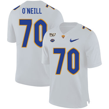 Pittsburgh Panthers 70 Brian O'Neill White 150th Anniversary Patch Nike College Football Jersey