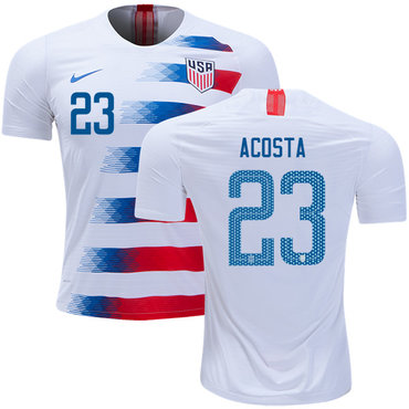 USA #23 Acosta Home Soccer Country Jersey