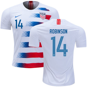 USA #14 Robinson Home Soccer Country Jersey