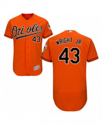 Youth Baltimore Orioles #43 Mike Wright Jr. Authentic Orange Alternate Flex Base Jersey