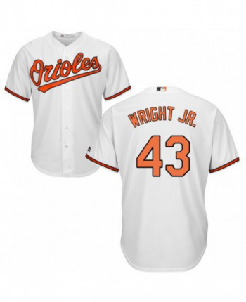 Youth Baltimore Orioles #43 Mike Wright Jr. Replica White Home Cool Base Jersey